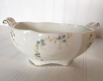 Antique Footed Johnson Brothers English floral bowl Free Shipping