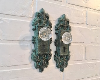 Curtain Tieback/Curtain Holders/Wall Hook/Draper/Faux Door Knob/Shabby Chic Wall Decor/
