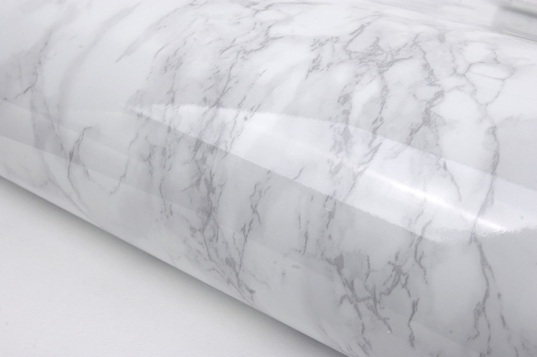 White Granite Film 2m Counter Top Look Marble Effect Vinyl Self Adhesive Peel Stick Wallpaper