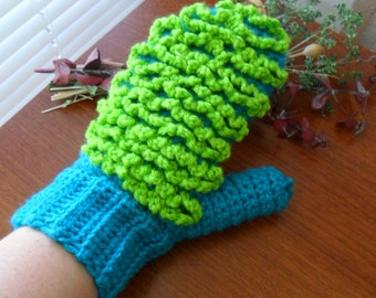 Custom Bright Ecofriendly 2-Sided Dusting Mitt - You Choose the Colors