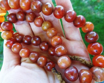 Perles en cornaline ancienne