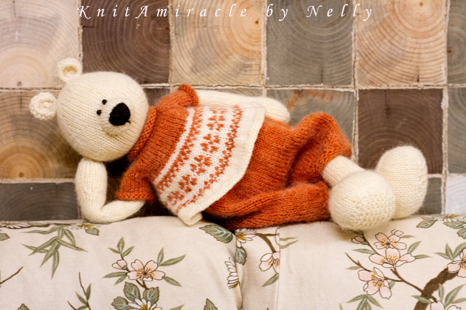 Knitting pattern toy Knitted teddy bear pattern Knit animal