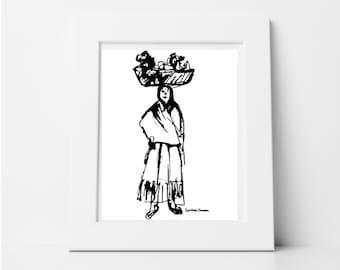 Printable, Woman Figure Art Print