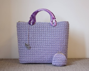 Crochet bag with coin purse (crochet bag with purse)