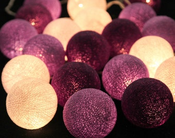 Cotton Balls String Fairy Lights 20 LED 16 feet Warm White for Wedding Party