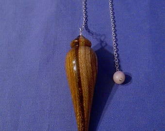 Handmade Wooden Dowsing Pendulum  *Traditional*  Use for:  Healing, Allergy Testing, Chakra Balancing, Map Dowsing, Finding Missing Objects.