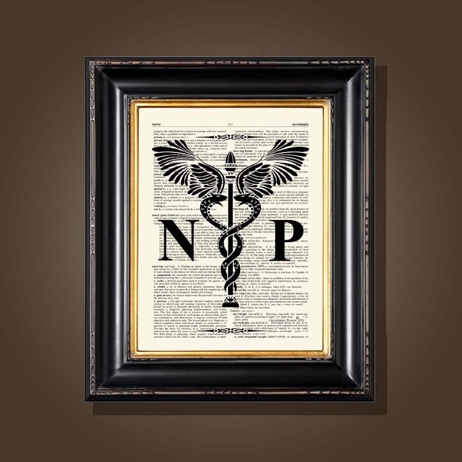 Vintage Nurse Practitioner Caduceus