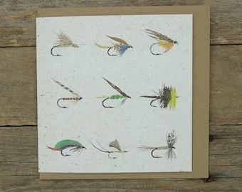 Fishing Flies- Fly Fishing Card
