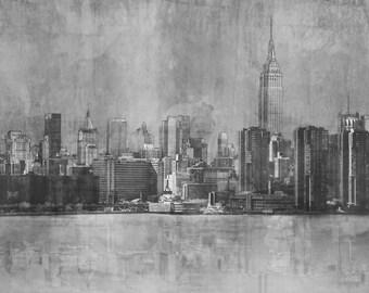 NYC Cityscape: Giclee Fine Art Print 13X19