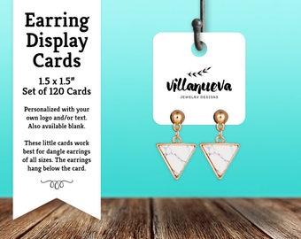 Mini Earring Cards | Hanging Jewelry Display Cards | Blank or Custom | SH079 01