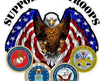 Support Our Troops Sticker/Decal