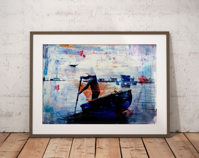 Waterworld XV by Sven Pfrommer - Artwork is ready to hang with a solid wooden frame