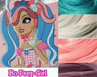 Ever After High Lily Little Bo Peep Girl Doll Re-root Pack Nylon Hair Color Blend Kit to make your own OOAK Doll INTL SHIP