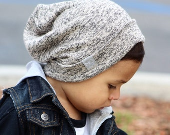 Best Seller! Marble Tan Hipster Beanie / NOXX Beanies / Slouchy Hat / Sweater Knit Hat