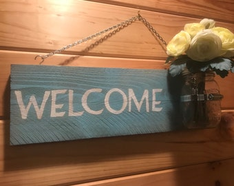 Mason Jar Welcom Sign
