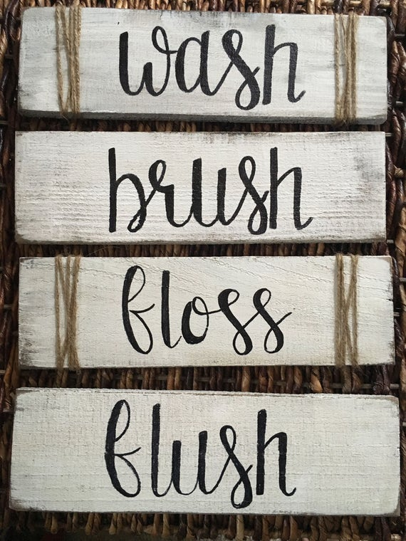 Rustic Farmhouse Bathroom Decor Rustic Bathroom Signs Wash