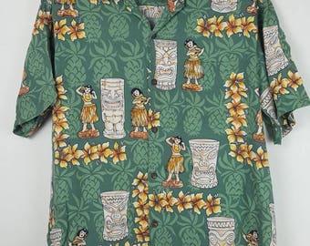 Vintage Banana Jack Honolulu hawaii button down  rayon shirt beach
