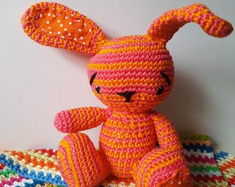 Bunny Rabbit Toy - Summer patchwork ears and feet