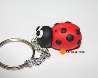 Fimo ' Ladybug ' Keychain