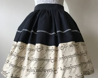 Ladies or girls Lord of The Rings inspired skater style skirt