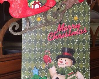 Large Christmas Tag Wall Decor