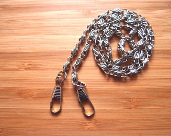 PURSE CHAIN Silver Nickel OR Antique Brass Purse Chain - Rope Hand Chain | Choose Size | Bag and Purse Strap Hardware Quality Metal Fittings