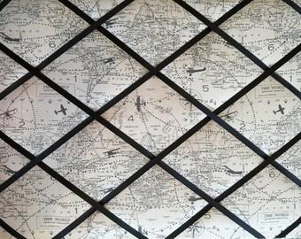 Memo Board French Memo Board Bulletin Board Fabric Pin Board Travel Canvas Airplane Map