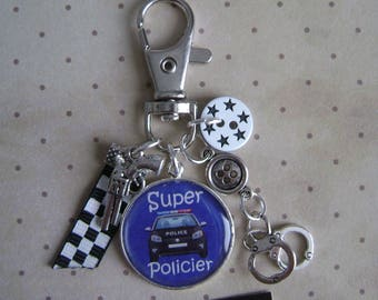 Police officer keychain