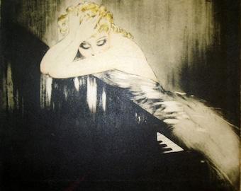 Icart Waltz Dreams Piano Art Painting Print on Canvas Ready to Hang