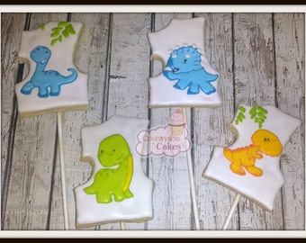 """Number 1 First Birthday Hand Decorated sugar cookies 3"""""""
