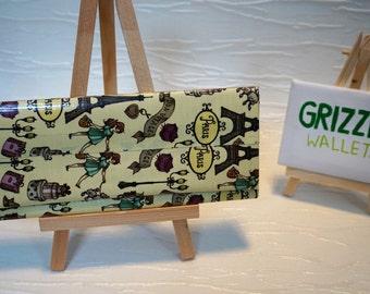Womens paris print duct tape purse // wallet // parisian // clutch purse