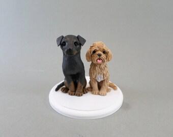 Custom Handmade Dog Wedding Cake Topper