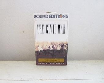 La guerre civile rapporté par Ken Burns, cassettes, livres audio, éditions sonores, histoire de l'Amérique, histoire de la guerre civile, l'éducation, ruban ensemble