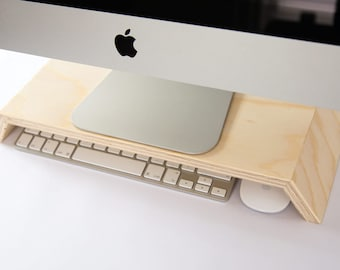 Budget display / monitor stand for IMac, Keyboard and mouse storage opportunities!!!!