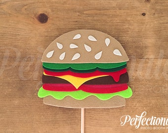 Cheeseburger Photo-Booth Prop | Hamburger Prop | Burger Decorations | Burger Centerpiece