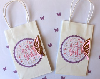 Butterfly favor bags,butterfly baby shower,butterfly gift bags,girl baby shower,spring baby shower,garden baby shower,baby shower gift bags