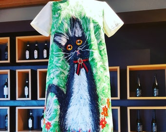 "Hand painted Dress ""Sweet Kitty"""