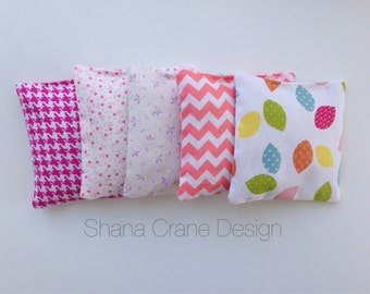 6 Rice Pillows . Various Colors