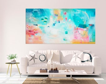 Extra large colorful abstract painting, original painting, large wall art, modern abstract art, vibrant wall art