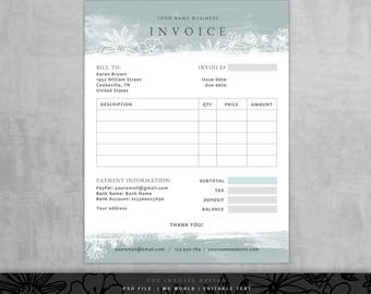 Invoice Template Etsy - Free invoice templates for microsoft word trendy online clothing stores