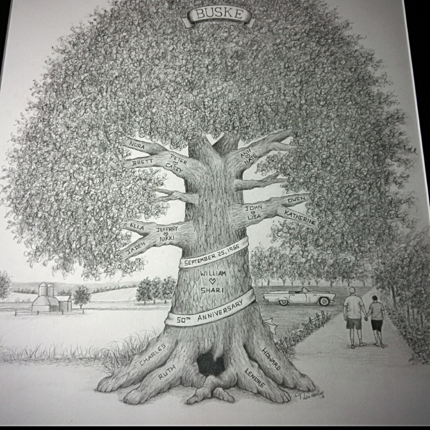 drawn family tree