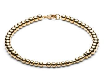Ball bracelet / name bracelet • Morse code • gold