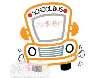 EXCLUSIVE School Bus SVG and DXF Cut File