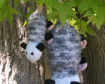 Poppy Possumand Baby PDF Knitting Pattern