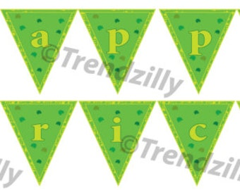 St Patrick's Day Banner, St. Patricks Day Party Decor, St Patty's Party Banner, St Patricks Party Signs, Printable Instant download.