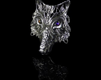 Mask of the Wolf - Handmade in Bronze or Sterling Silver