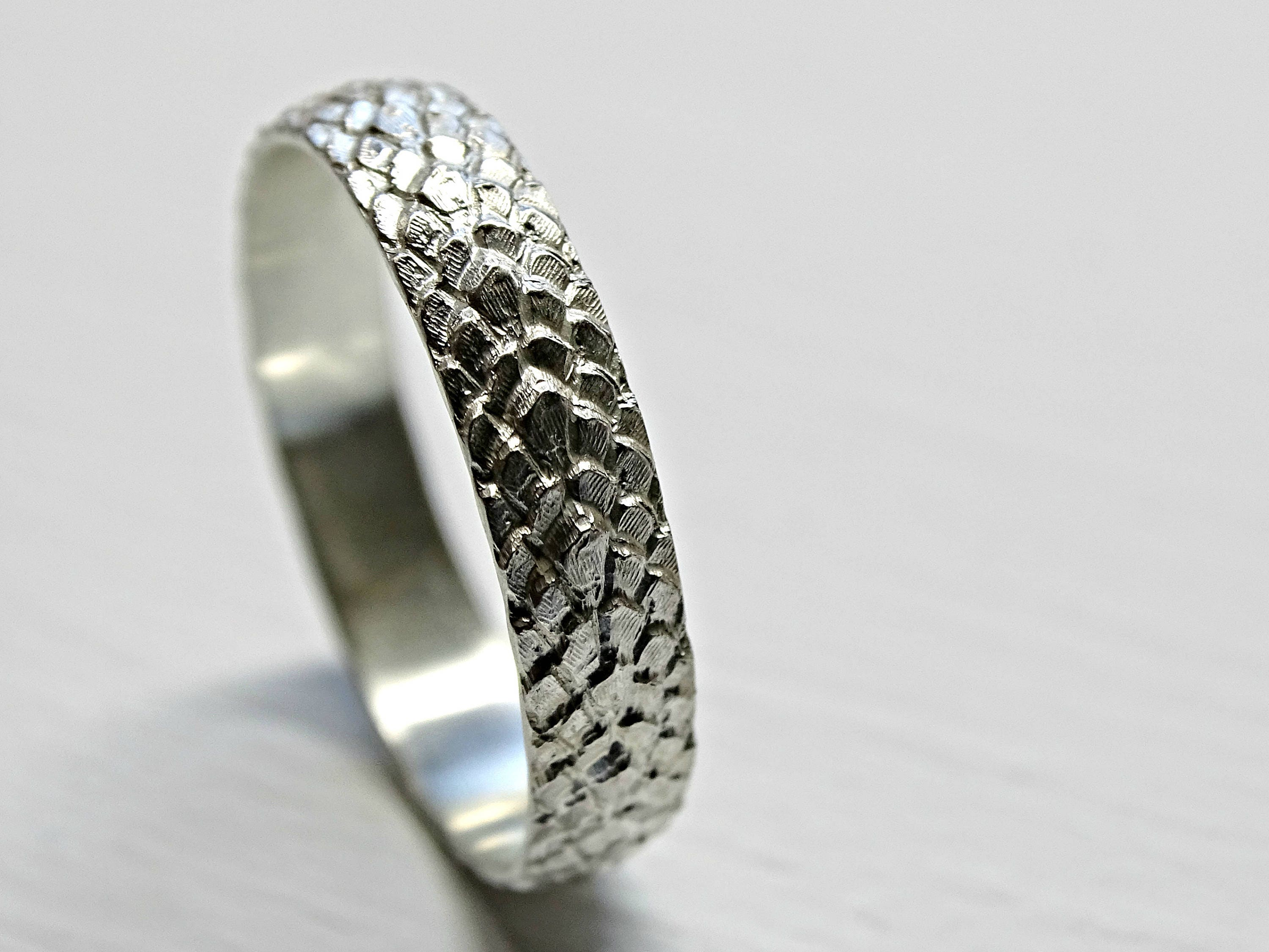 dragon scale ring silver feather ring me val wedding band
