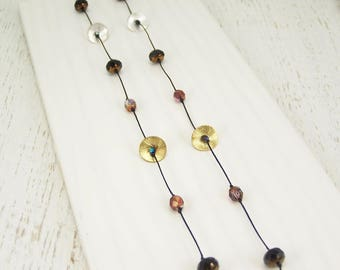 Chic Wrap Necklace - Midnight & Cherry