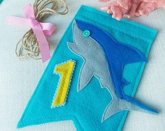 Shark 1st Birthday, Shark Birthday Banner, Fishing Birthday Banner, Highchair Banner, Shark High Chair, Fishing Birthday, Shark Birthday