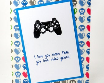 Game Controller Card, Gamer Card, Gamer Boyfriend Card, Gamer Girlfriend Card, Video Game Card, Video Game Lover Card, Paddle Card, Control